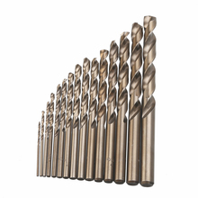 все цены на 15pcs Cobalt Drill Bits For Metal Wood Working M35 HSS Co Steel Straight Shank 1.5-10mm Twist Drill Bit Power Tools Mayitr онлайн