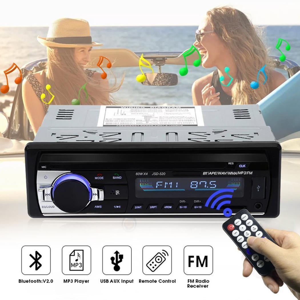 Télécommande infrarouge voiture Radio Bluetooth 60 W x 4 lecteur MP3 260,000 écran couleur voiture USB 2.0 accessoires