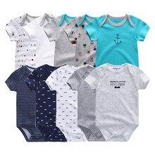 2021 5 adet/grup yenidoğan % 100% pamuk Unicorn 0-12M bebek erkek giysileri Bodysuits kız giyim bebek kız elbise roupas de bebe