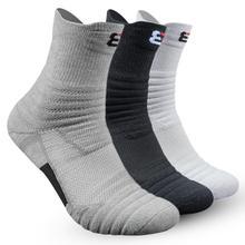 Новинка, пара баскетбольных носков, мужские длинные уплотненные махровые хлопковые носки, спортивные носки для бега, бадминтона, тенниса