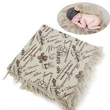New Children's Photography Blanket Baby Hundred Days Photo Linen Broken Side Pad Background Cloth Photography Props Supplies new children blanket baby hundred days to take pictures of linen cloth newborns photography props 75cmx80cm including burr 7cm
