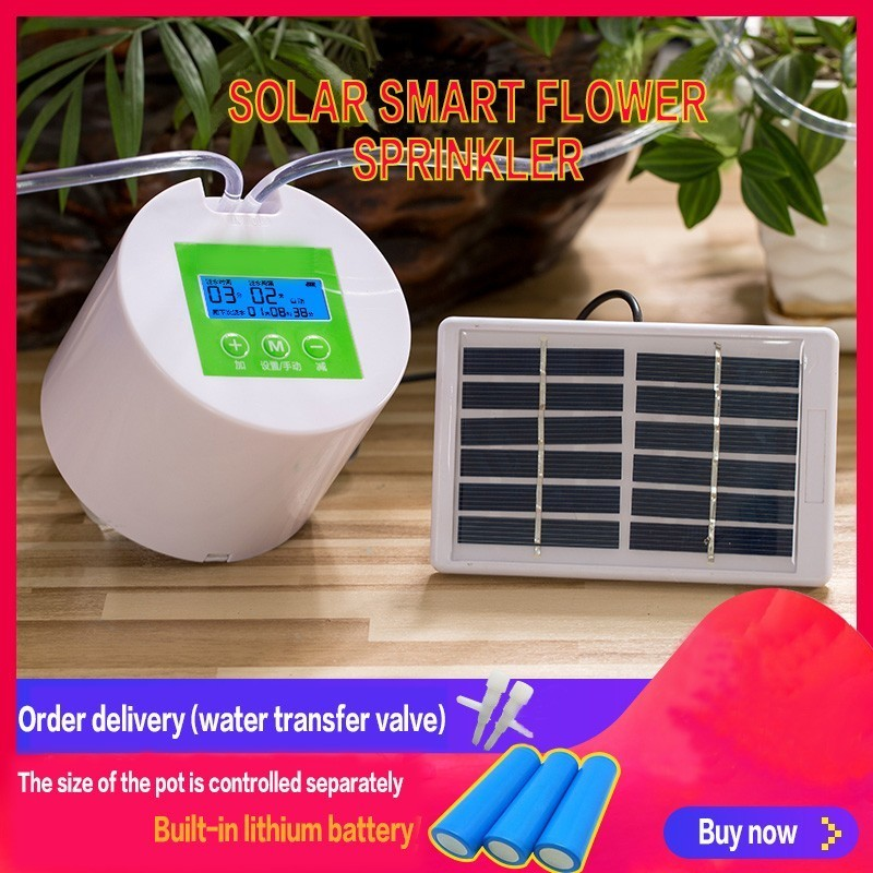 Solar Charging Automatic Watering Device Home Intelligent Timing Irrigation Tool Water Pump Seepage Drip Lazy Watering FlowersSolar Charging Automatic Watering Device Home Intelligent Timing Irrigation Tool Water Pump Seepage Drip Lazy Watering Flowers