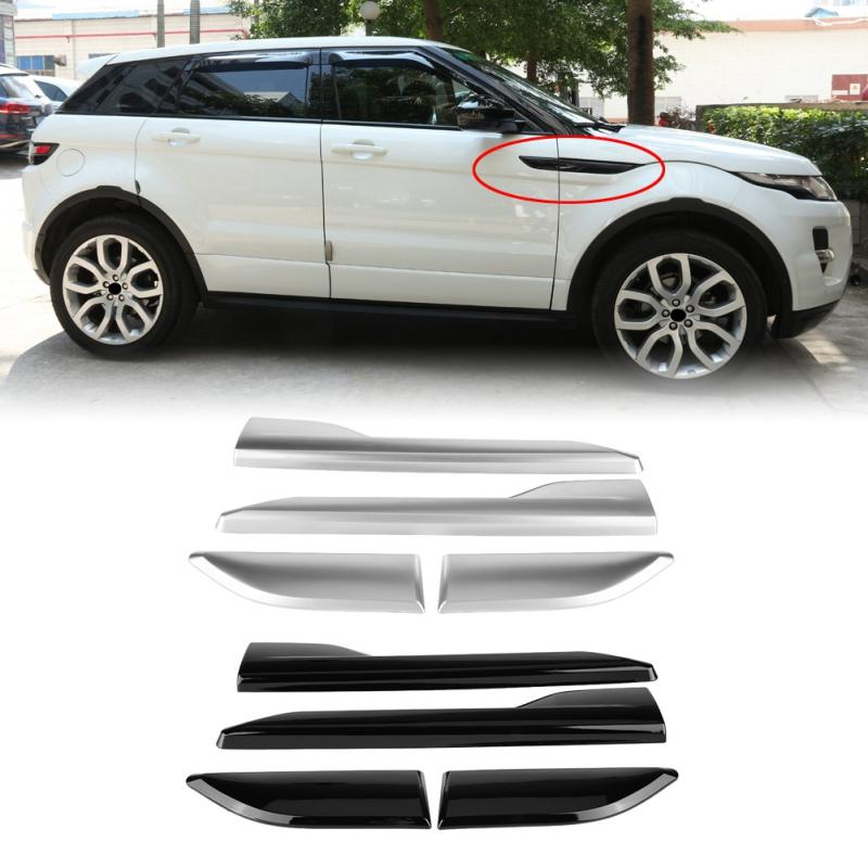 4* Black Fender Side Air Vent Outlet Cover Trim for Range Rover Evoque 2012-2018