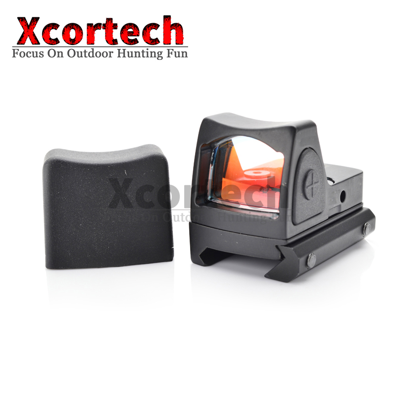 Xcortech Mini micro pistola glock airsoft red dot sight para espingardas telescópica optics riflescope caça âmbito ajuste 20mm ferroviário