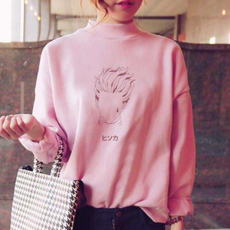 Hisoka Hoodies Women Hood Sweatshirt Female Clothes Sweatshirt Female Ulzzang Warm Harajuku Fashion