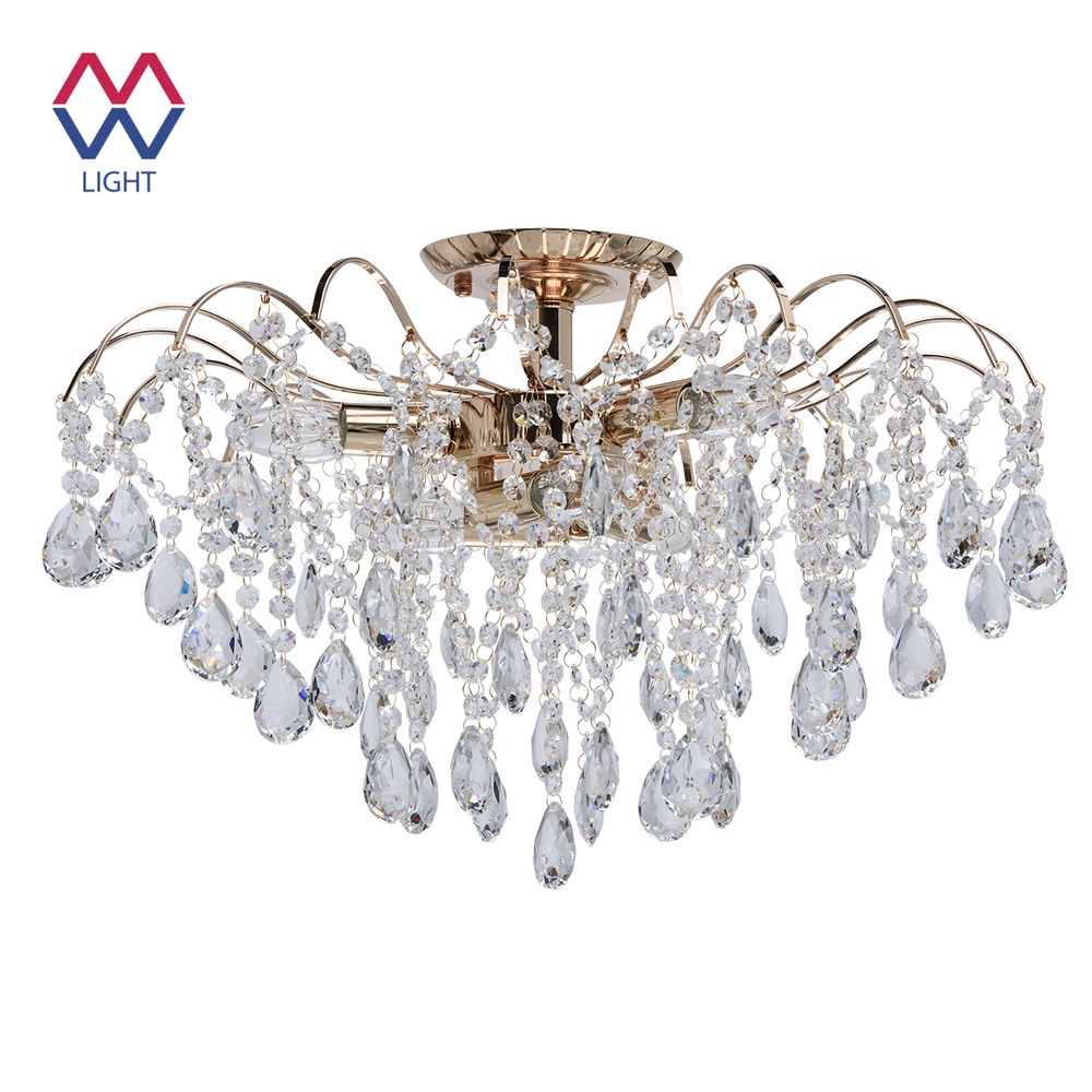 Chandelier Crystal Mw-light 464017406 ceiling chandelier for living room to the bedroom indoor lighting gramercy люстра elmer crystal chandelier