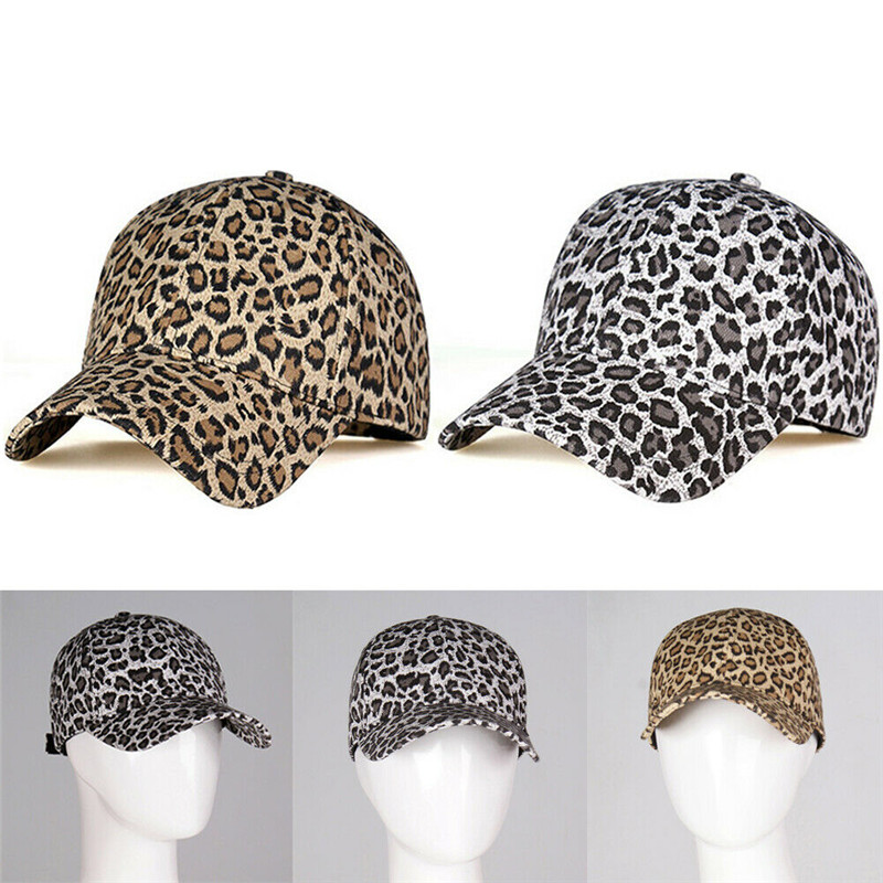 Fashion Casual Leopard Cheetah Print  Panel Strapback Camp Hat  Cap Retro Animal Baseball Golf Cap One Size For Adults