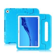 Huawei mediapad m5 lite 10 용 어린이 태블릿 pc 충격 방지 케이스 AGS2 L09 AGS2 W09 DL AL09 w09 eva 케이스 용 10.1 실리콘 커버