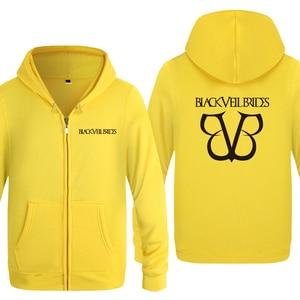 Image 3 - Black Veil Brides Rock Band Hoodies Men 2018 Mens Fleece Zipper Cardigans Hooded Sweatshirts