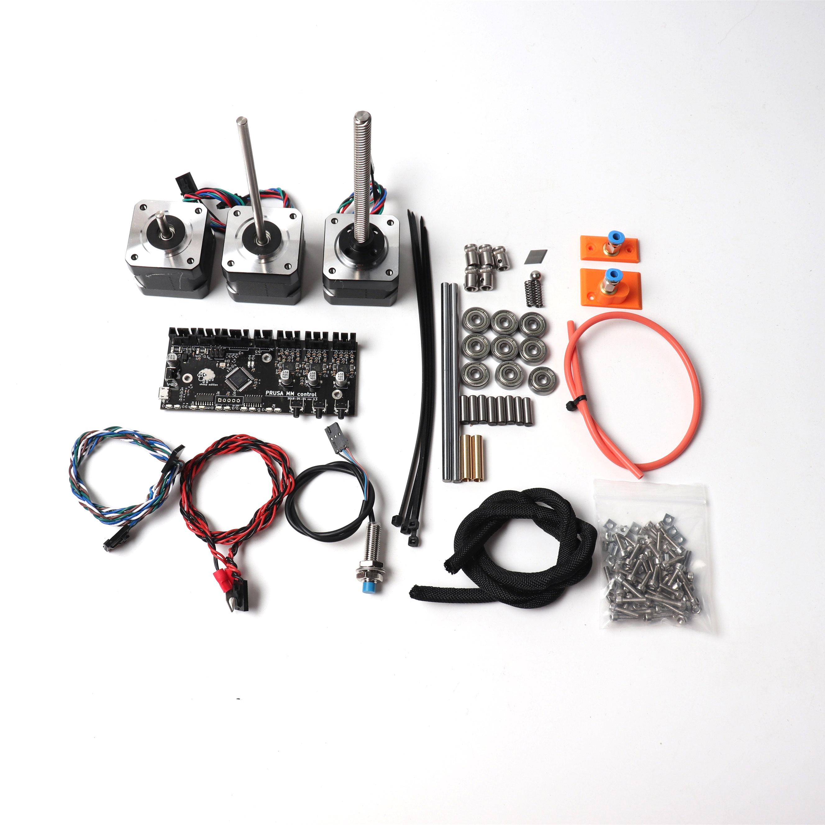 Prusa i3 MK2.5/MK3 MMU V2 kit Multi Matériel, tableau de contrôle, moteurs kit, FINDA sonde, câbles d'alimentation et le signal, lisse tiges