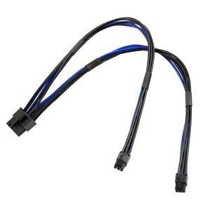 Cable de alimentación Dual Mini PCI-E 6P a estándar PCIE 8Pin 8P para tarjeta gráfica de vídeo, Cable de alimentación para Apple Mac G5 para Mac Pro 20/30/40cm