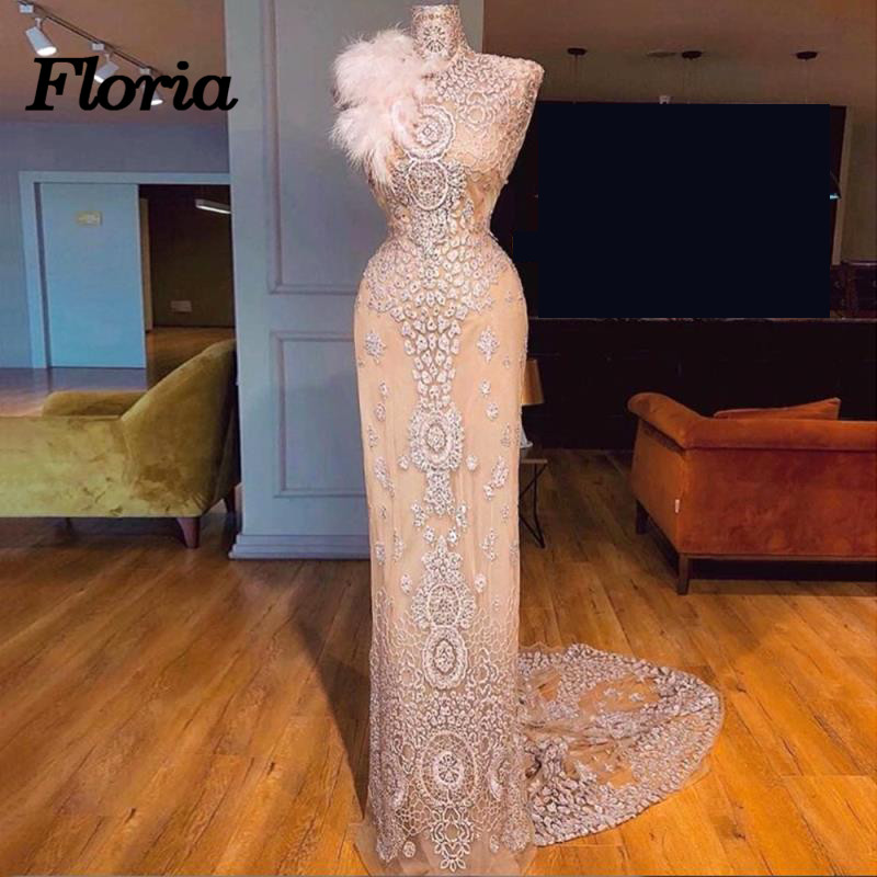 Luxury Arabic Dubai Mermaid Long Formal   Evening     Dresses   Robe de soiree Longue African Muslim Pageant Prom   Dress   abendkleider