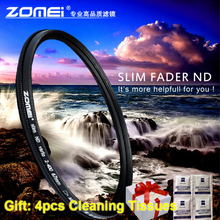 цена на ZOMEI Glass Slim 49/52/55/58/62/67/72/77/82mm Fader Variable ND Filter ND2-400 Adjustable Neutral Density filter ND2 TO ND400