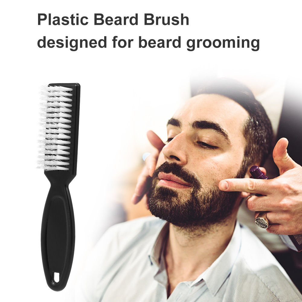 Plastic Beard Comb Brush Beard Mustache Facial Cleansing Massage Brush Anti Static Beard Grooming Tools Beard Brush