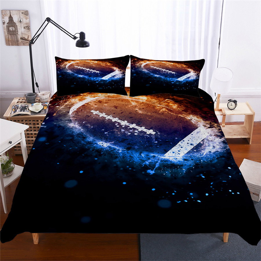 Bedding Set 3D Printed Duvet Cover Bed Set Football Home Textiles for Adults Lifelike Bedclothes with Pillowcase #GLQ02-in Bedding Sets from Home & Garden