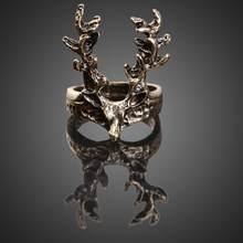 Vintage Retro Gothic Punk Style Ladies Bronze Sika Deer Finger Ring Jewelry rings for women jewelry(China)