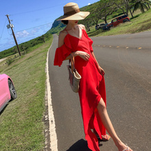Women Summer Dresses Sexy Off Shoulder Ruffles Dress Spaghetti Strap Beach Party Dresses Vestidos Femininos 2019