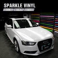 CARBINS пленка сверкающая виниловая Автомобильная обертывания белая Качественная автомобильная фольга Полный автомобильный бампер наклейка