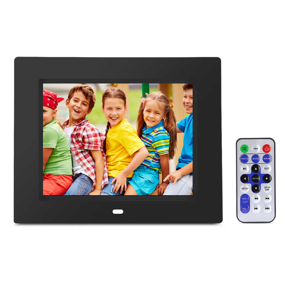 "Best Brithday Gift 8"" Digital Photo Frame Child Friends Digitale Picture Multipurpose Calendar Music Video With Remote Control"