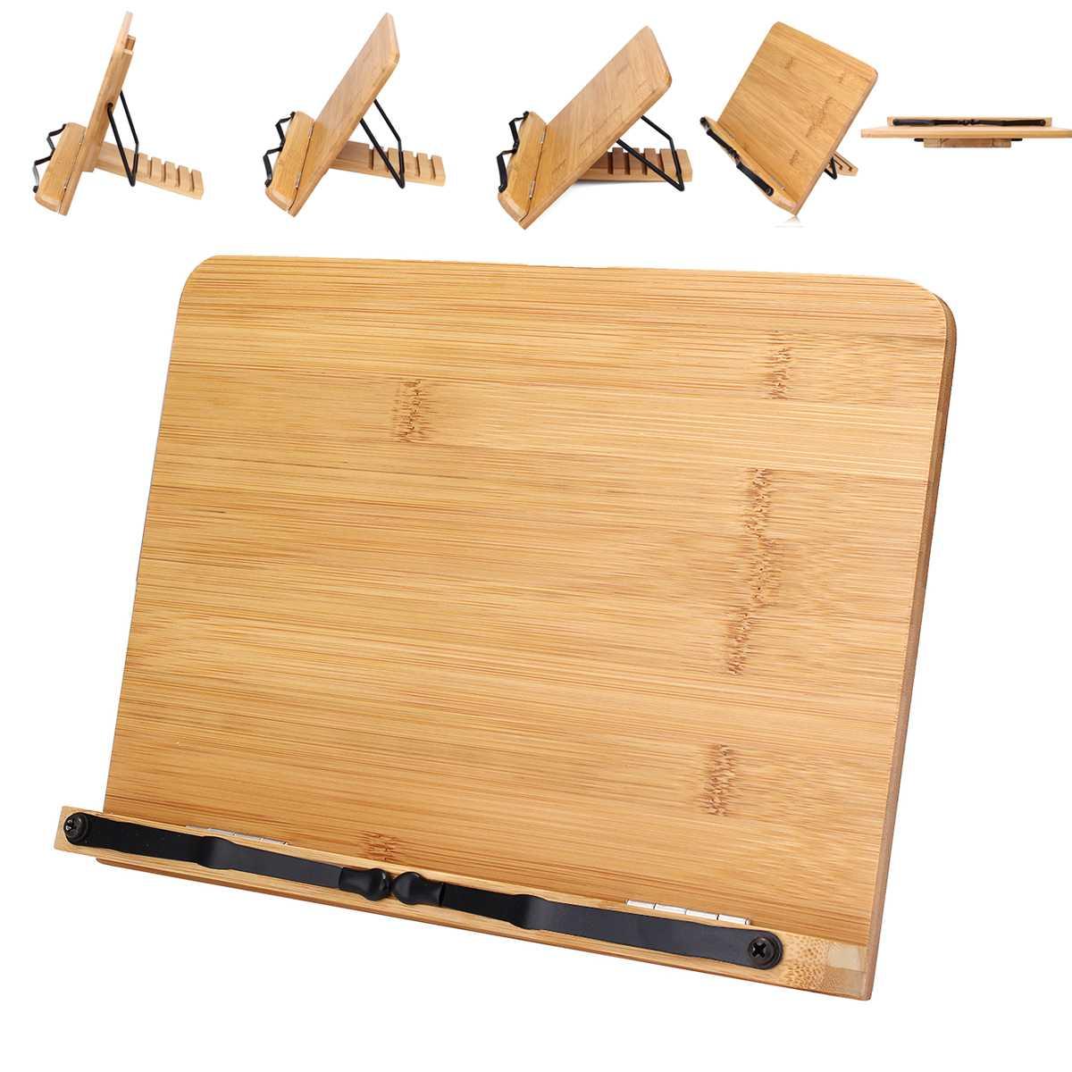 Tragbare Verstellbare Buch Halter Tablett und Seite Papier Clips-Kochbuch Lesen Schreibtisch Robust Lederbücher-Lehrbücher Leichte Lederbücher