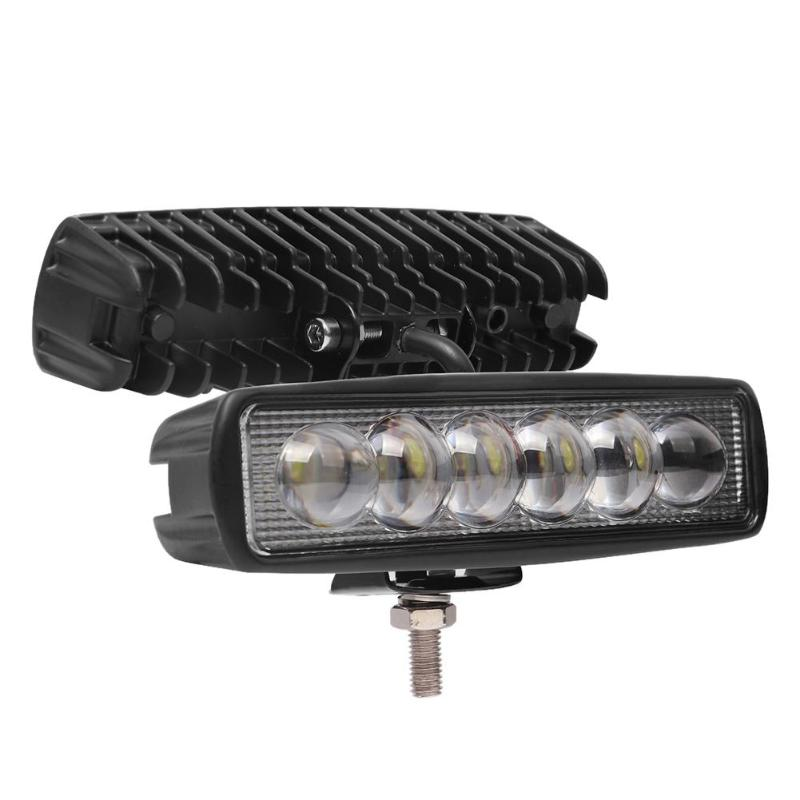 <font><b>16</b></font> Inch 18W 8D Lens <font><b>LED</b></font> <font><b>Work</b></font> <font><b>Light</b></font> Bar Waterproof Offroad Spot Flood Lamp Truck SUV Spot Flood Beam Driving Lamp 8D optical Lamp image