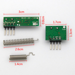 Image 5 - 1Set superheterodyne 433Mhz RF transmitter and receiver Module kit small size For Arduino uno Diy kits 433mhz remote controls