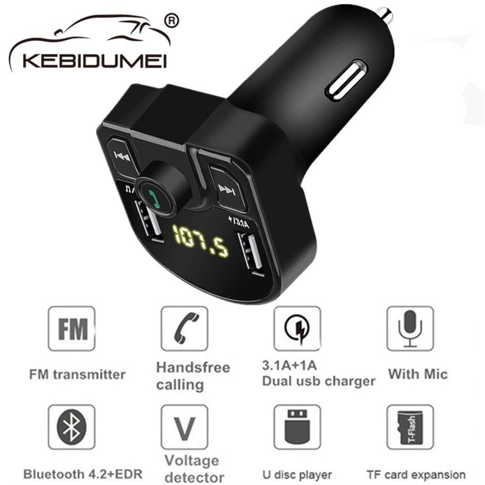 Ootdty Bluetooth Fm Tranmitter Drahtlose Auto Ladegerät Mp3 Player Dual Usb Led-anzeige Tragbare Tf Karte Musik Spielen Unterhaltungselektronik Mp3-player