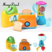 3PCS Simulation Electronic Home Appliance Kids Pretend Role Play Kitchen Toy Blender Juicer Bread Maker