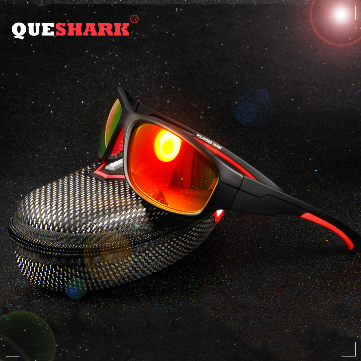 7bb1ae1297 QUESHARK Polarized Sports Sunglasses for Men Women Baseball Running Cycling  Fishing Driving Golf Softball Hiking Sun