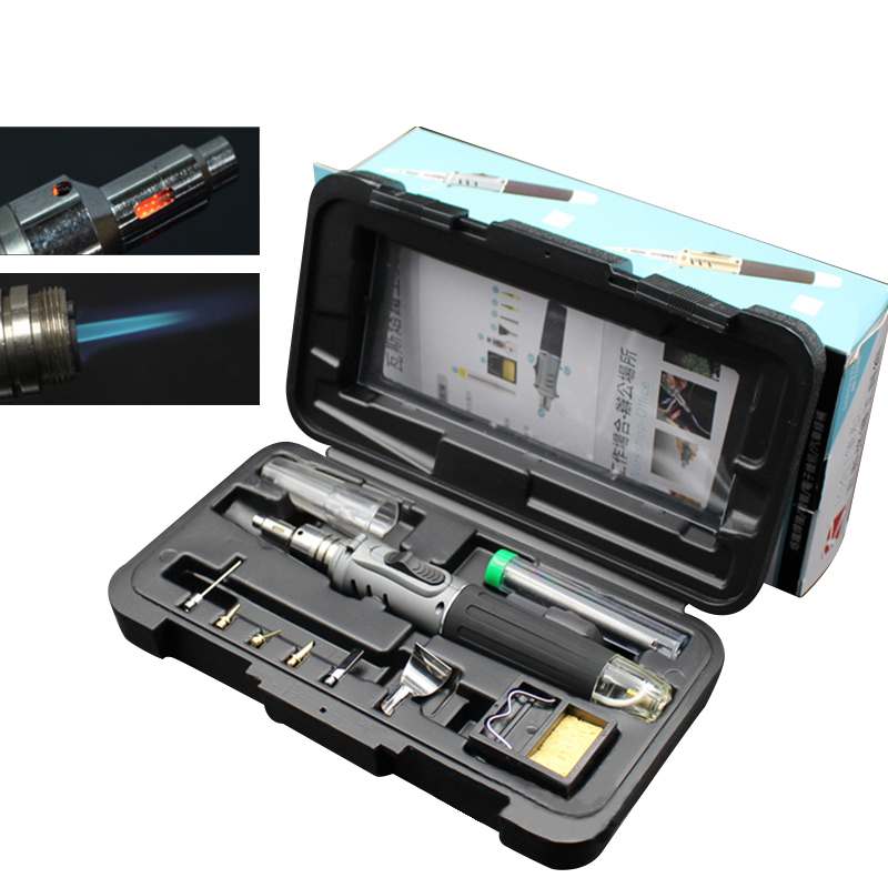 10in1 Butane Gas Soldering Iron HS-1115K Professional Soldering Iron Set Gas Welding Torch for Solder Welding Tool10in1 Butane Gas Soldering Iron HS-1115K Professional Soldering Iron Set Gas Welding Torch for Solder Welding Tool