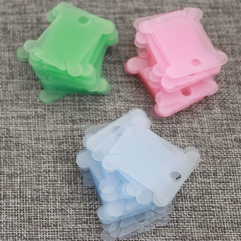 20Pcs Spool Embroidery Craft Winding Plate Board Portable Stitch Sewing Tool Plastic Thread Bobbin Holder Floss Storage Coiling