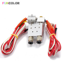 лучшая цена 2 in 1 out J-Head Remote Extruder Double Head 3D Printers Extrusion Parts Metal Heat Sink 1.75mm Filament 3D Printer Accessories