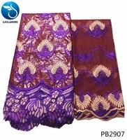 LIULANZHI bazin riche getzner fabric nigeria lace embroidery fabric getzner fabric african PB29
