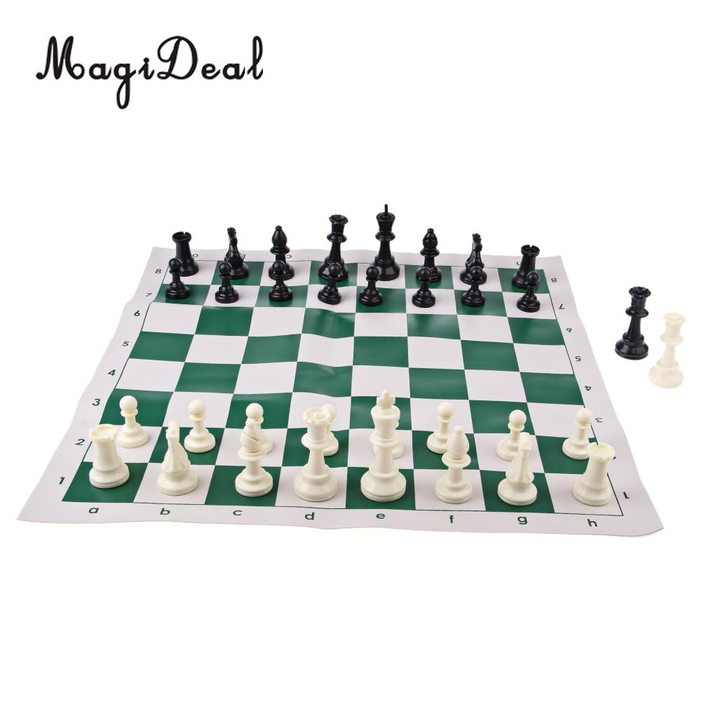 International Chess Game Set Portable 50.5 x 50.5 cm ChessBoard & 2 Pack of Chess Pieces watches international x
