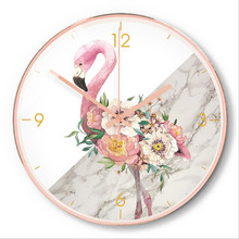 New 3D Wall Clock Quartz Nordic Modern Design INS Metal Rose Gold Shell Mute Watch For Home Accept Dropshipping