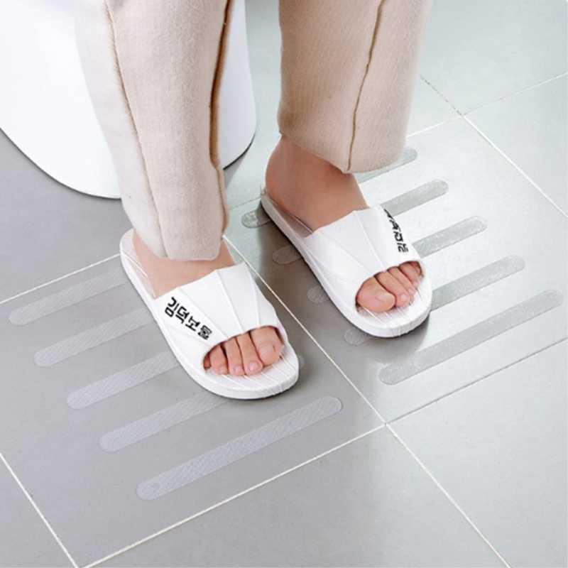 5 sztuk schody wanna do łazienki antypoślizgowe naklejki taśmy przezroczyste naklejki wodoodporne akcesoria łazienkowe