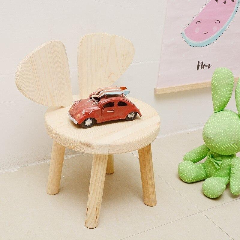 Ins Cartoon rien ongle Woodiness enfants chaise pour bébé chambre décoration manuel ameublement maternelle en bois bébé chaise