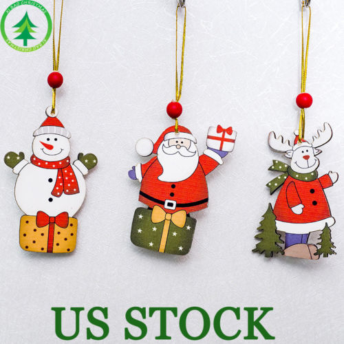 Christmas Tree Decorations Wooden Ornament Xmas Tree ...