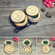 Rustic Custom Personalized Ring Box Holder Wedding Decor Vintage Party Engagement Decoration Wooden Pillow Boxes