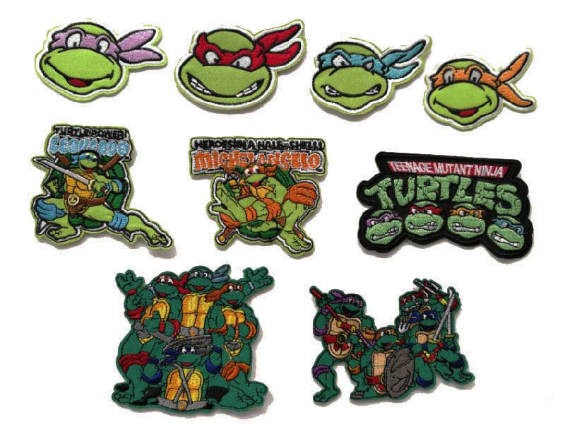 LEO Teenage Mutant Ninja Turtles Michelangelo Computer embroidered embroidery fabric wholesale