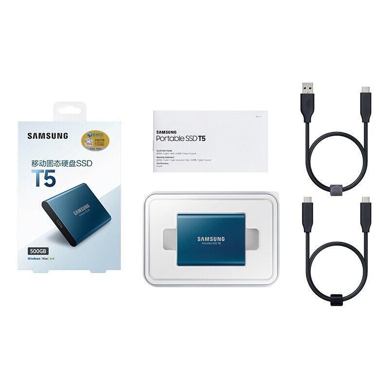 Samsung externo SSD T5 250gb 500g 1T 2T externo estado sólido Hd disco duro Usb 3,1 gen2 (10 gbps) y Compatible con atrás para PC - 6