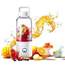 Portable Blender, Smoothie Blender USB Juicer Cup, 17oz Fruit Mixing Machine with 4000mAh Rechargeable Batteries, Detachable C