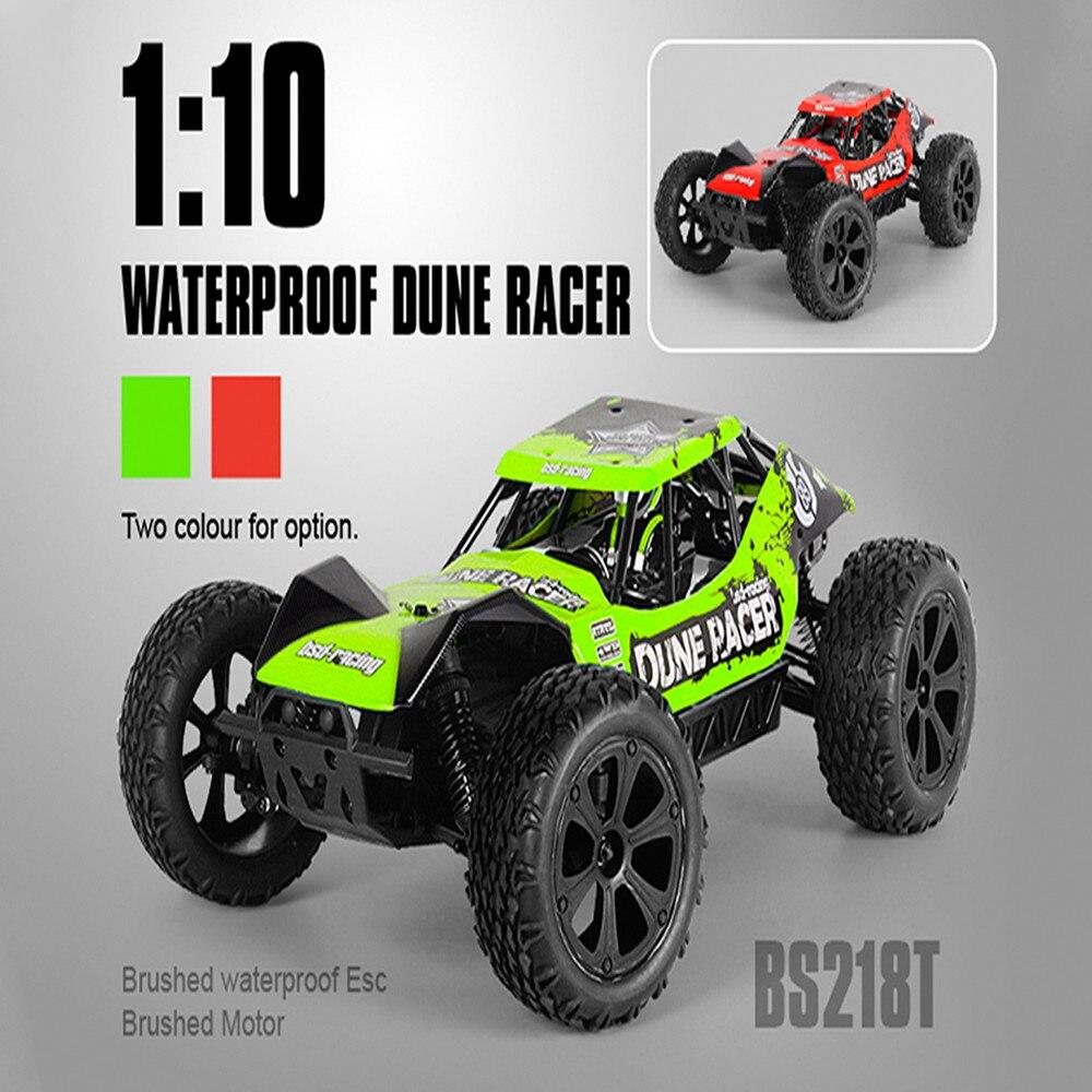 Imperméable à l'eau JFRC BS218T 1:10 4WD tout-terrain voitures de course RC Dune Racer Dirt Bike 550 moteur brossé 40A brossé ESC Monster Trucks