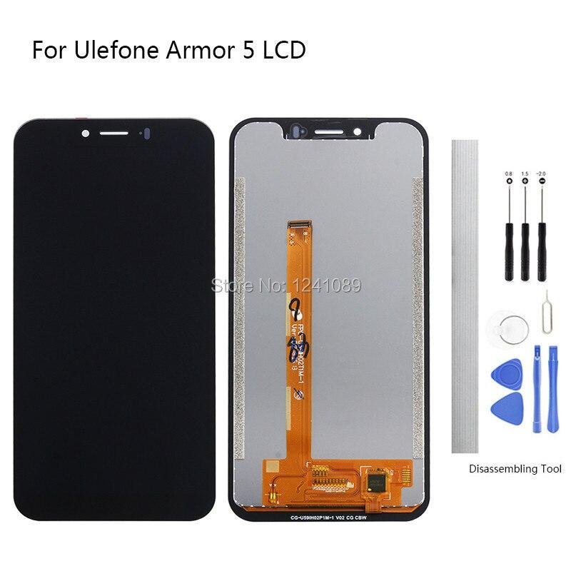 Écran d'affichage remplacer pour Ulefone Armor 5 écran tactile LCD 5.85 pouces noir pour Ulefone Armor 5 écran tactile LCD sans cadre