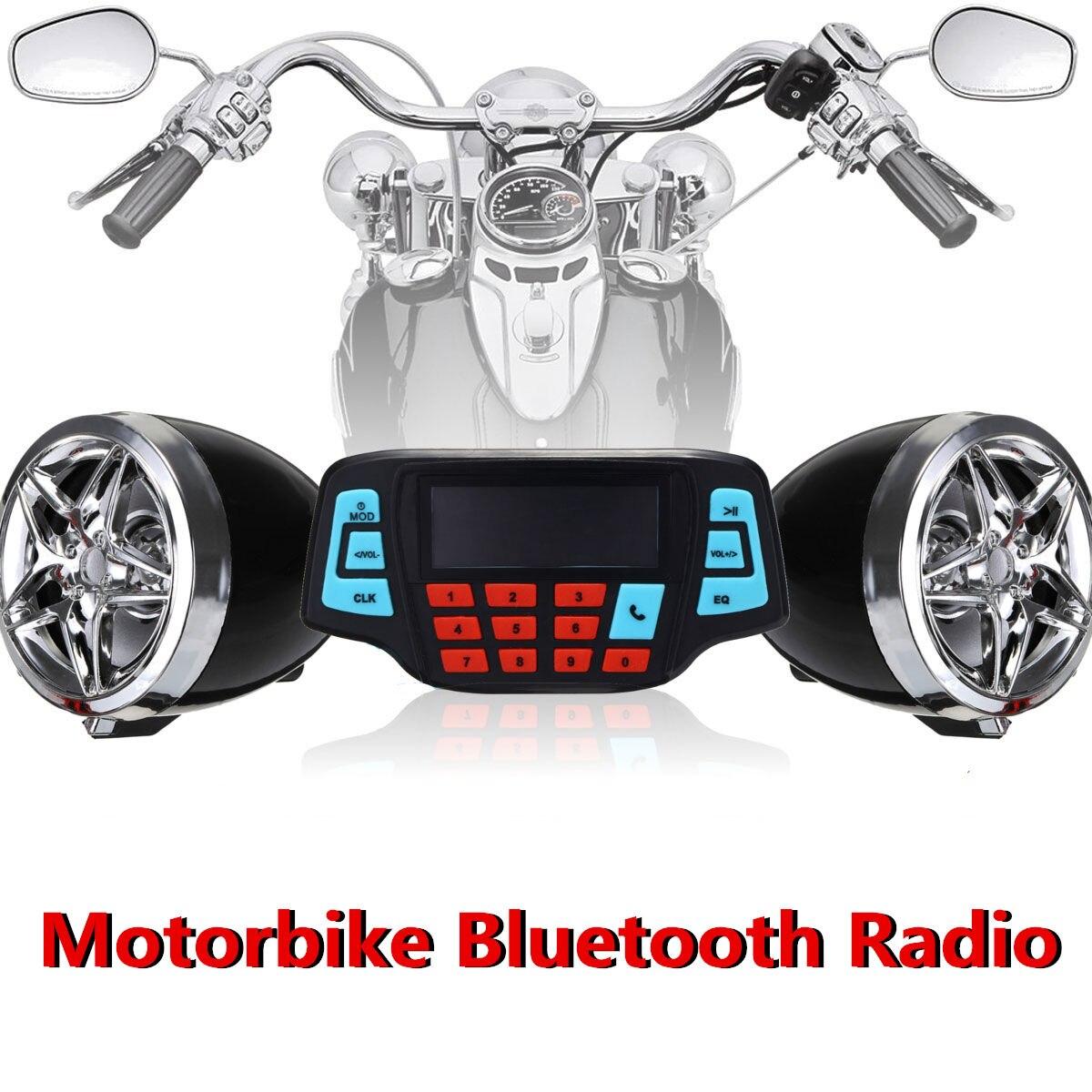 Mofaner 12V Waterproof Motorcycle Bluetooth Radio Motorbike ATV MP3 Player Two Speaker Handlebar Radio For Honda For Kawasaki цена