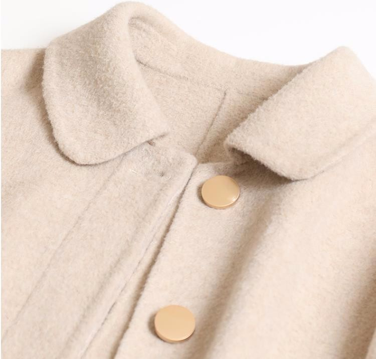 jaune D'hiver 2019 Poitrine Mode Hiver M 4 Laine Beige De Et Lâche Veste noir L pourpre Couleurs Longue Unique Manteau S Automne Femmes q4OvBFS4
