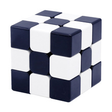 Custom Cube UV Printing  Magic 3x3x3 Black White Stickerless Puzzle Games Cubo Magico Educational Toys for Children