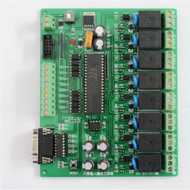 Eight Income Come Stc / At Series Singlechip Programmable Serial Port Rs232 Control Relay Industrial Control Board Imitate PLC