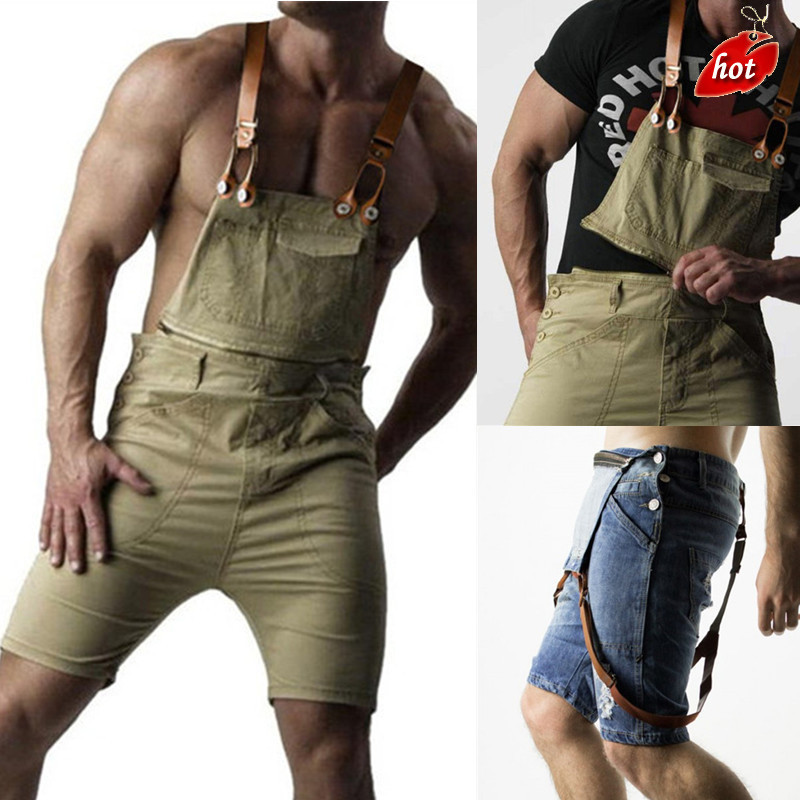 2018 Mens Casual Retro Denim Bib Overall Long Suspender Pants Spring Autumn Jeans Jumpsuit For Men Overalls Plus Size O8R2