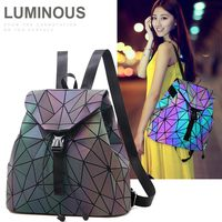 Women Tote Rhomboids Geometric Large Capacity Zipper Pocket Dating Travel Backpack All Match Shoulder Flash Geometric Backpack